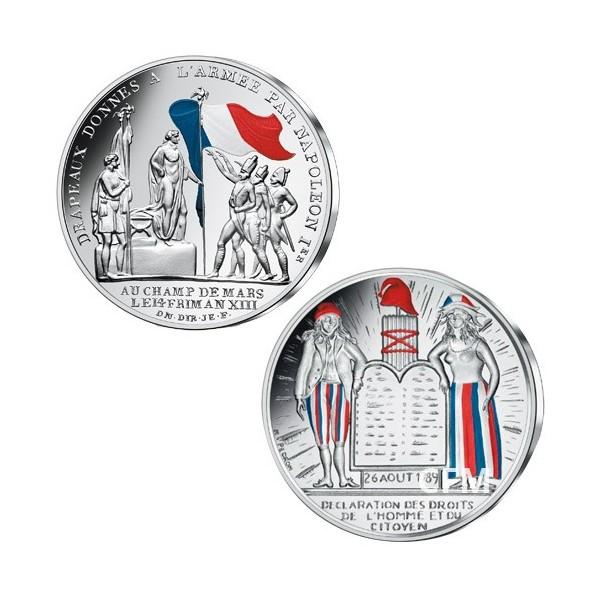 Lot des 2 x 50 Euro Argent 2019 colorisées
