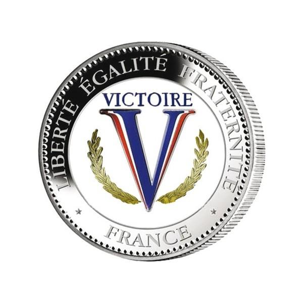 """La pièce """"Victoire"""" colorisée Seconde Guerre mondiale"""