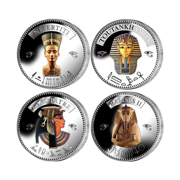 4 pièces colorisées Égypte + le coffret offert