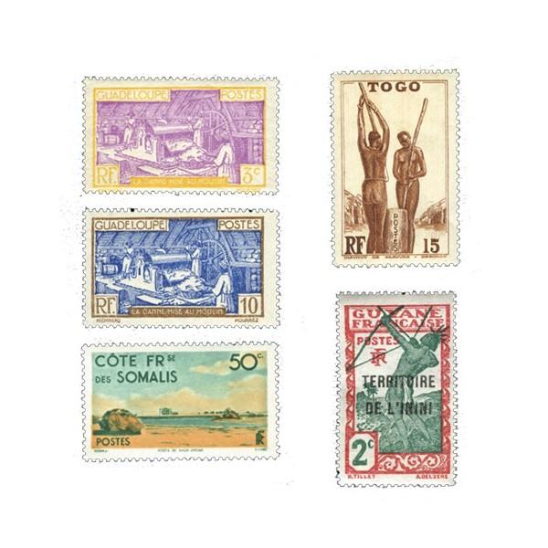 Timbres Colonies - Lot de 300 timbres*
