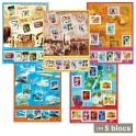 5 Blocs Le siècle au fil du timbre
