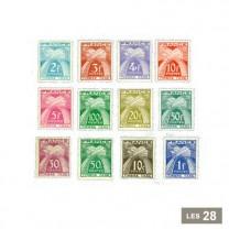28 timbres-taxe France 1943-1946