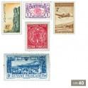 40 timbres départements d'Outre-Mer