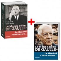 Lot de 2 ouvrages : Le Monde selon De Gaulle, Tomes 1 & 2