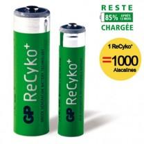 Piles rechargeables ReCyko+ - les 4