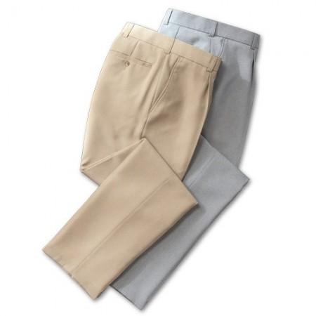 Pantalons de ville infroissables - les 2