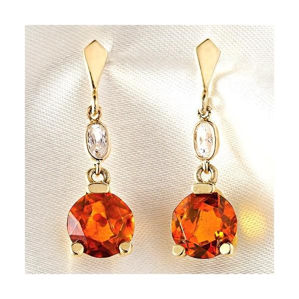 Boucles doreilles pierres dambre facett acheter bijoux for Le miroir d ambre