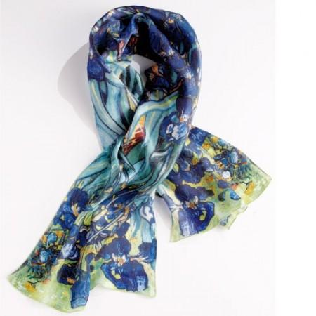 Foulard soie «Les Iris» - Acheter Idées cadeaux femme - L Homme Moderne 8638acee869