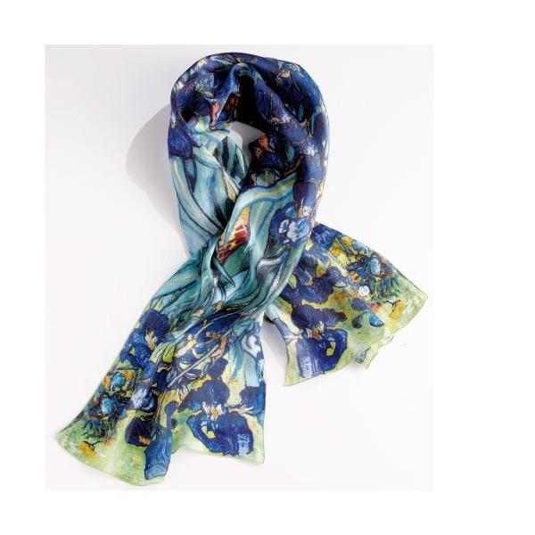 Foulard soie «Les Iris»
