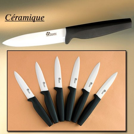 Couteaux de table c ramique les 6 acheter c t cuisine for Acheter couteaux cuisine