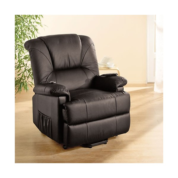 fauteuil releveur cuir massant chauffant acheter d co. Black Bedroom Furniture Sets. Home Design Ideas