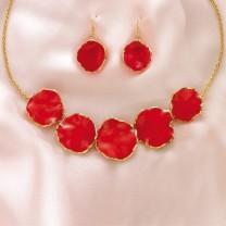 Collier petales de rose
