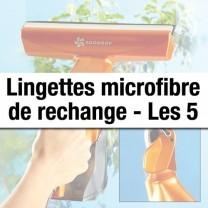 Lingettes microfibre de rechange - les 5