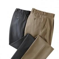 Pantalon «grandes tailles» taupe confort