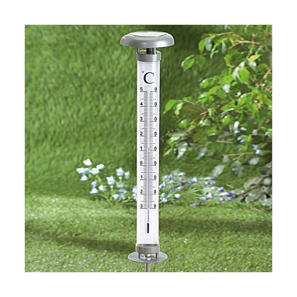 Thermom tre g ant solaire acheter jardin bricolage l for Thermometre exterieur geant