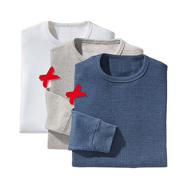 Tee-shirts thermiques - les 3