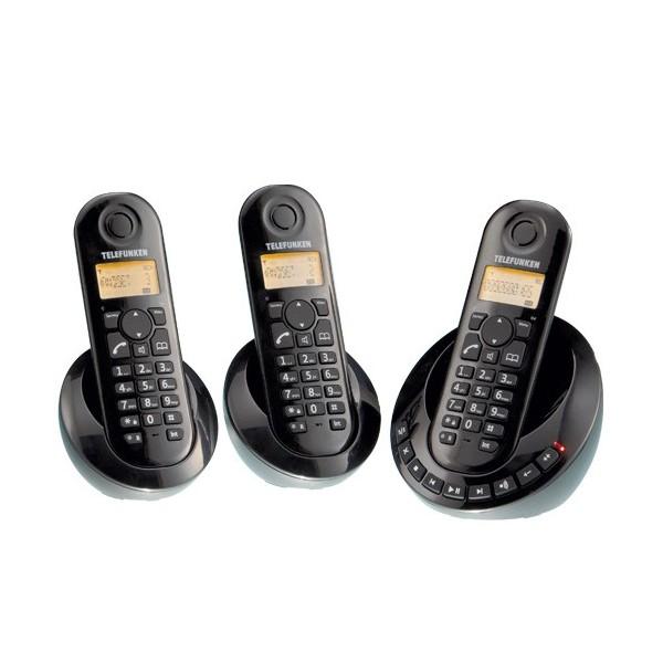 trio de t l phones sans fil telefunken acheter. Black Bedroom Furniture Sets. Home Design Ideas