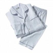Pyjama rayé en coton