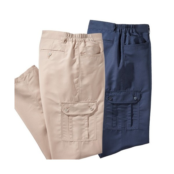 Pantalons «battle» microfibre - les 2