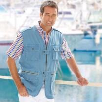 Gilet Denim Travel et chemise offerte