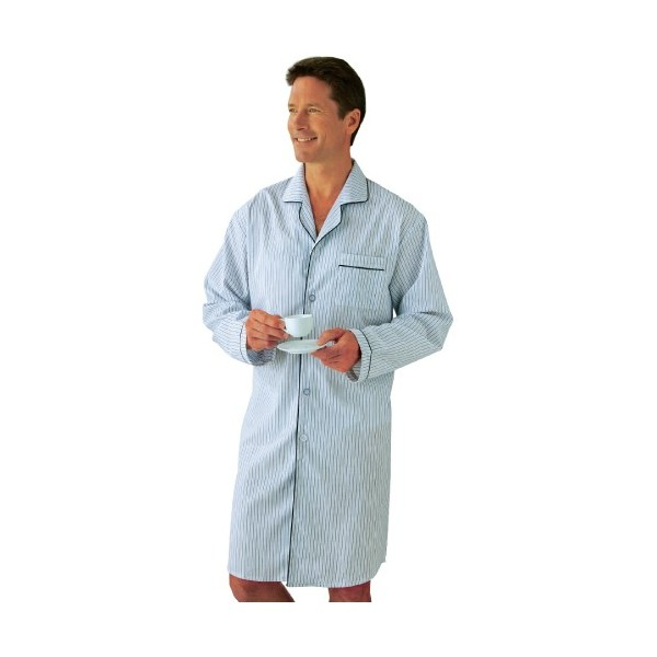 chemise de nuit en coton acheter pyjamas robes de chambre l 39 homme moderne. Black Bedroom Furniture Sets. Home Design Ideas