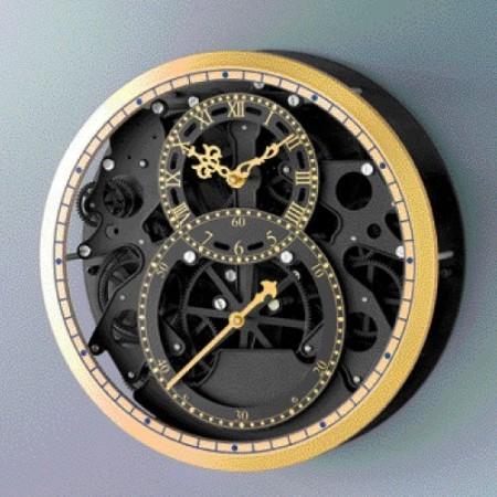 horloge skeleton black gold acheter luminaires et. Black Bedroom Furniture Sets. Home Design Ideas