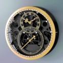 Horloge skeleton «black & gold»