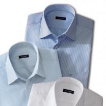 Chemise sans repassage  Jean Chatel® rayée blanc/ciel