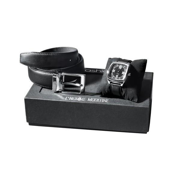 coffret montre et ceinture acheter montres lunettes l 39 homme moderne. Black Bedroom Furniture Sets. Home Design Ideas