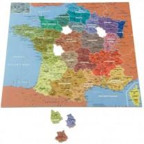 Puzzle en bois «carte de France»