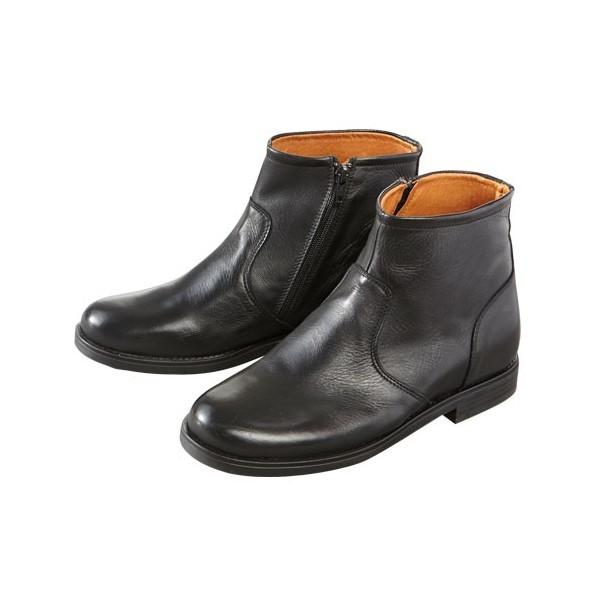 Boots cuir à talonnettes intégrées