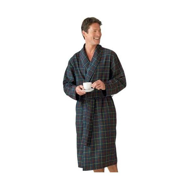 robe de chambre flanelle clan acheter pyjamas robes de chambre l 39 homme moderne. Black Bedroom Furniture Sets. Home Design Ideas