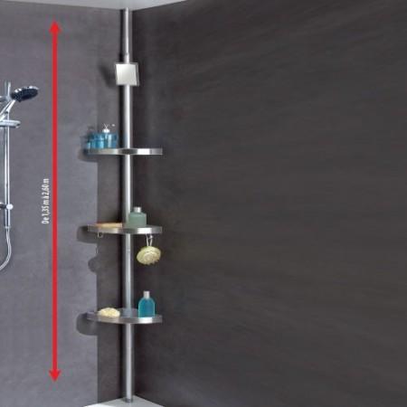 Étagère de douche télescopique