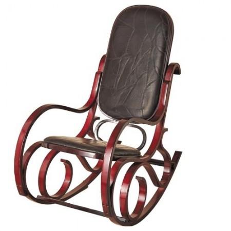 rocking chair en cuir acheter d co ameublement linge de maison l 39 homme moderne. Black Bedroom Furniture Sets. Home Design Ideas