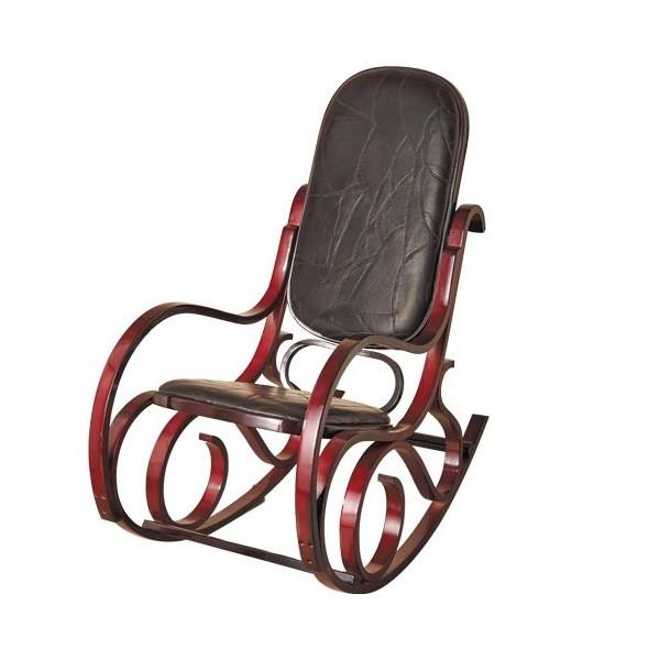 Rocking chair en cuir acheter d co ameublement linge de maison l - Acheter rocking chair ...