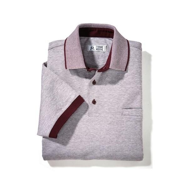 polo fil d 201 cosse 171 diamant 187 bordeaux acheter chemises polos l homme moderne