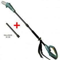 Scie à ébrancher rechargeable + rallonge
