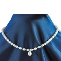 Collier perles d'eau & perles d'or