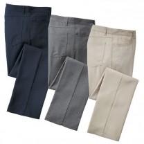 Pantalons «sport-chic» infroissables - les 3