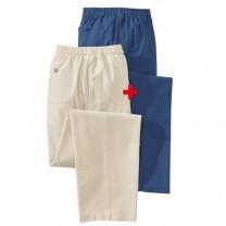 Les 2 Pantalons Coton  et Lin Ténéré