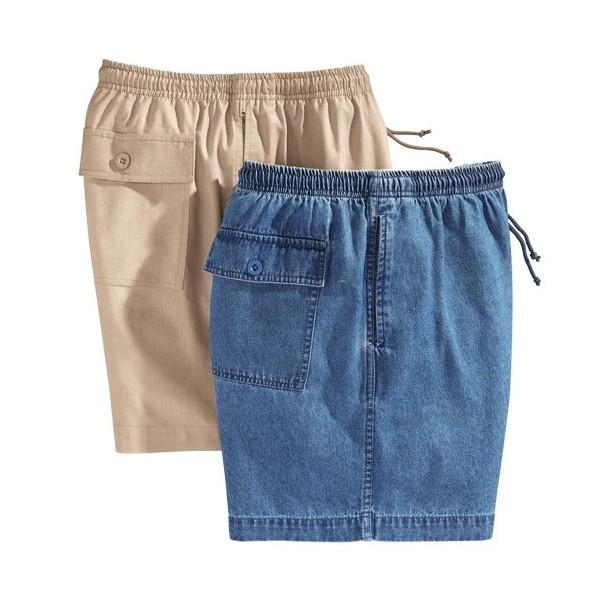 Les 2 Shorts Toile Coton