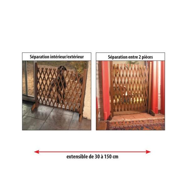 barri re extensible en bois acheter equipement mobilier. Black Bedroom Furniture Sets. Home Design Ideas