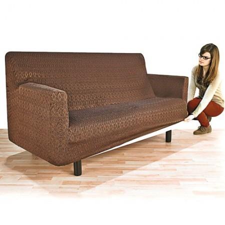housse adaptable canap 2 places chocolat acheter quipements domestiques l 39 homme moderne. Black Bedroom Furniture Sets. Home Design Ideas