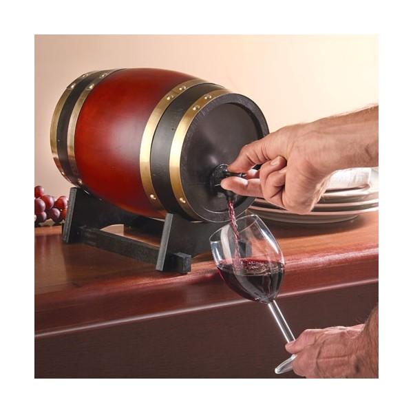 tonneau distributeur de vin acheter art de la table l 39 homme moderne. Black Bedroom Furniture Sets. Home Design Ideas