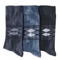Trio de chaussettes intarsia