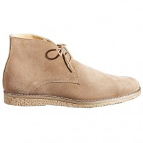 Derbys montants cuir velours