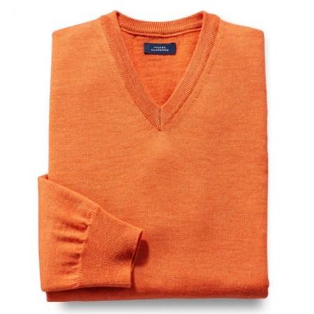 pull m rinos pierre clarence orange acheter pulls gilets l 39 homme moderne. Black Bedroom Furniture Sets. Home Design Ideas