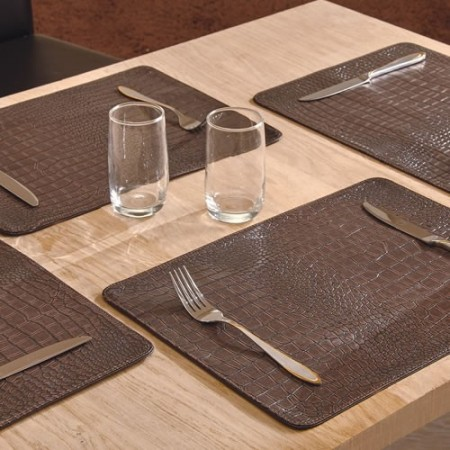 Set de table croco les 4 acheter d co ameublement - Set de table intisse ...
