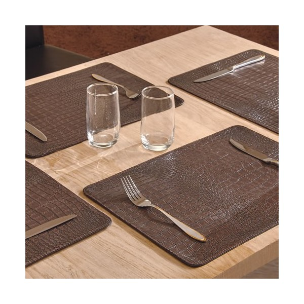 Set de table croco les 4 acheter d co ameublement linge de maison l 39 homme moderne Set de table a personnaliser