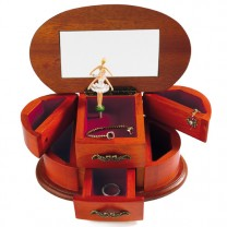 Le coffret à bijoux musical en bois